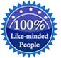 100% like-minded people